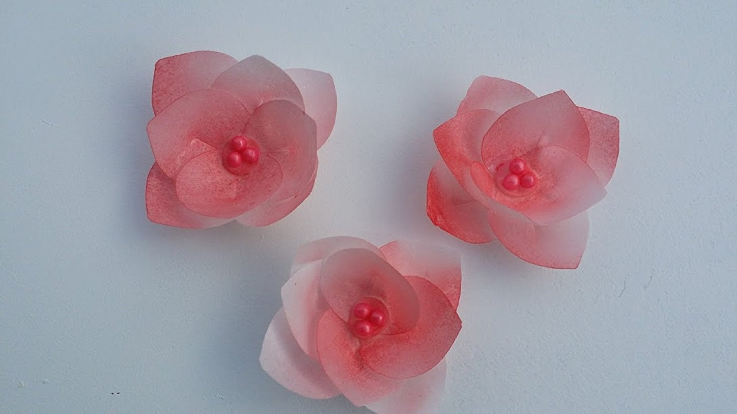 3d Edible Rice Paper Flowers For Cake Decoration Cupcake Toppers